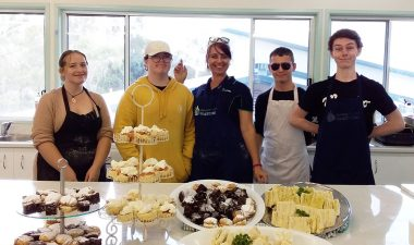 Senior school cooking class students at Carinity Education Gladstone