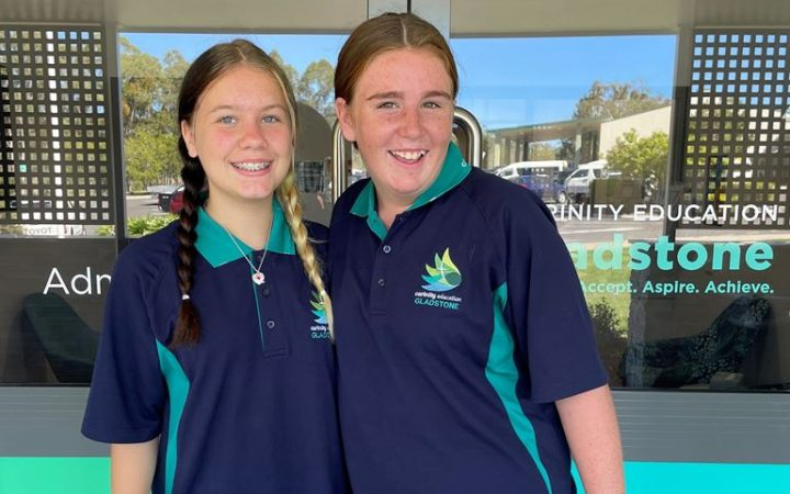Carinity Education Gladstone students in their new polos
