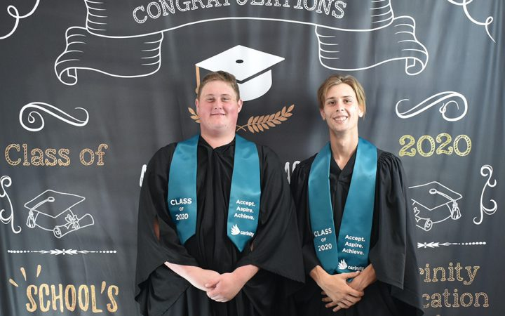 Carinity Education Glendyne 2020 graduates Kye and Josh.