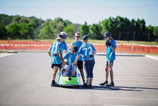 arinity Education Glendyne Students in Human Powered Vehicle