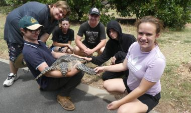 Carinity Education Rockhampton students have been learning about how to protect the environment and native marine animals.