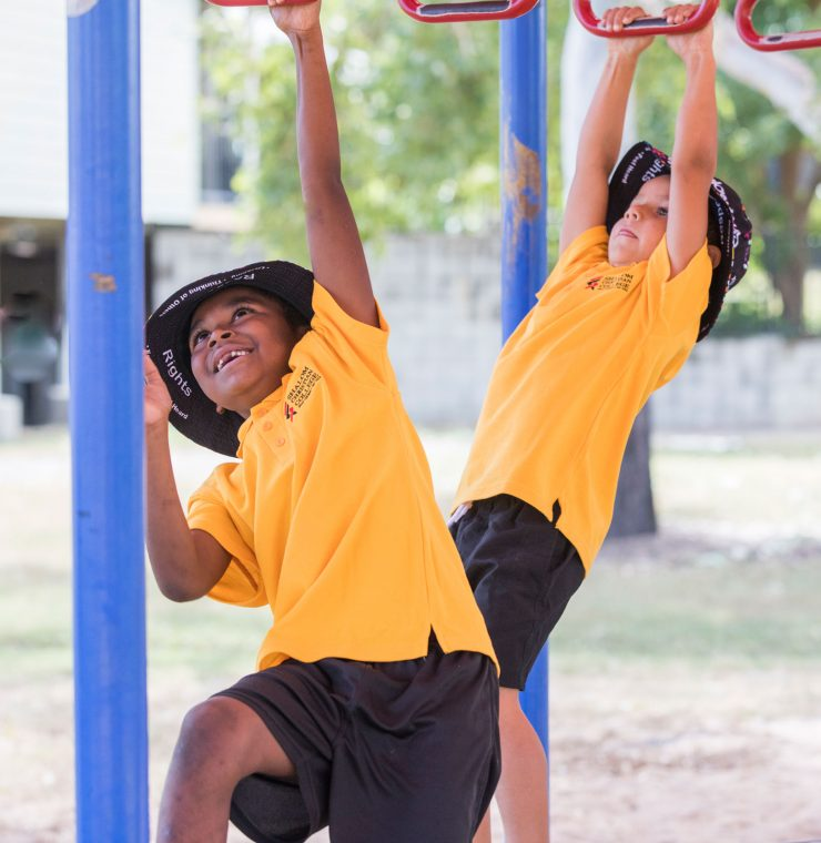 Shalom Students playing in the playground